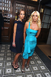 Left to right, ALLEGRA VERSACE and DONATELLA VERSACE at Vogue's Celebation of Fashion dinner held at The Albermarle, Brown's Hotel, Albermarle Street, London on 18th September 2008.