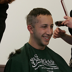 Volunteers were so anxious for their haircut, I missed the before picture