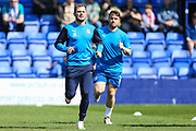 Tranmere Rovers James Norwood(10) warming up during the EFL Sky Bet League 2 match between Tranmere Rovers and Forest Green Rovers at Prenton Park, Birkenhead, England on 19 April 2019.