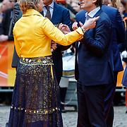 NLD/Groningen/20180427 - Koningsdag Groningen 2018, Nobelprijswinnaar Ben Feringa in gesprek met Laurentien