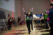 Edie McClurg, who played Grace in Ferris Bueller's Day Off, is announced at the Shermer High School 1986 Spring Dance that's part of the Ferris Fest at the Athletico Center on, Friday, March 20, 2016, in Northbrook. (Photo by Rob Hart)