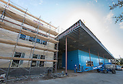 Construction at Leland College Preparatory Academy, January 24, 2017.