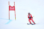 """Schladming, Austria - 2017 March 19: Nina Katharina  Kopfer from Austria (36) competes in Alpine Skiing Competition while Special Olympics World Winter Games Austria 2017 on the """"Sepp-Walcher-Downhill""""<br /> (Slope 32) near the """"Tauernalm"""" in Rohrmoos on March 19, 2017 in Schladming, Austria.<br /> <br /> Mandatory credit:<br /> Photo by © Adam Nurkiewicz / Mediasport<br /> <br /> Adam Nurkiewicz declares that he has no rights to the image of people at the photographs of his authorship.<br /> <br /> Picture also available in RAW (NEF) or TIFF format on special request.<br /> <br /> Any editorial, commercial or promotional use requires written permission from the author of image.<br /> <br /> Image can be used in the press when the method of use and the signature does not hurt people on the picture."""