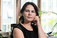 02 JUL 2019, BERLIN/GERMANY:<br /> Annalena Baerbock, MdB, B90/Gruene, Parteivorsitzende, waehrend einem Interview, in ihrem Buero, Jakob-Kaiser-Haus, Deutscher Bundestag<br /> IMAGE: 20190702-01-031