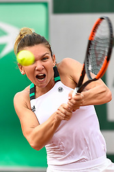 PARIS, June 2, 2017  Simona Halep of Romania returns the ball to Tatjana Maria of Germany during the women's singles 2nd round match at the French Open Tennis Tournament 2017 in Paris, France on June 1, 2017. Simona Halep won 2-0. (Credit Image: © Chen Yichen/Xinhua via ZUMA Wire)