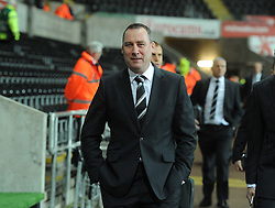 Fulham Manager, Rene Meulensteen arrives at the Liberty Stadium.  - Photo mandatory by-line: Alex James/JMP - Tel: Mobile: 07966 386802 28/01/2014 - SPORT - FOOTBALL - Liberty Stadium - Swansea - Swansea City v Fulham - Barclays Premier League