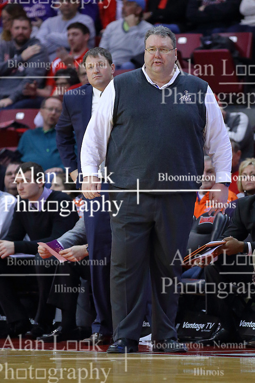 29 December 2016:  Marty Simmons during an NCAA  MVC (Missouri Valley conference) mens basketball game between the Evansville Purple Aces the Illinois State Redbirds in  Redbird Arena, Normal IL