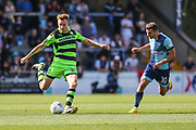 Forest Green Rovers Mark Roberts(21) clears the ball during the EFL Sky Bet League 2 match between Wycombe Wanderers and Forest Green Rovers at Adams Park, High Wycombe, England on 2 September 2017. Photo by Shane Healey.