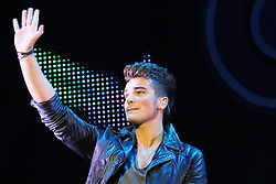 © Licensed to London News Pictures. 12/10/2013, UK. 5 Josh Cuthbert; Union J, Girlguiding BIG GIG, Wembley Arena, London UK, 12 October 2013. Photo credit : Richard Goldschmidt/Piqtured/LNP