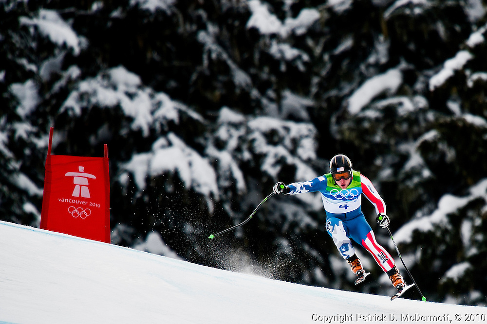 Andrew Weibrecht of the United States competes in the Alpine skiing Men's Downhill at Whistler Creekside during the Vancouver 2010 Winter Olympics on February 15, 2010 in Whistler, Canada.