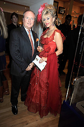 HUGH BOND-WILLIAMS and SALLY FARMILOE at the Linley Christmas party at their store at 60 Pimlico Road, London on 19th November 2008.