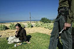 Elei Sinai,Gaza Strip.<br /> American cristians visit Elei Sinai, a jewish settlement. &copy;Carmen Secanella.