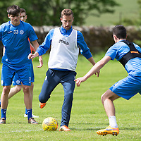 St Johnstone FC Training….Steven MacLean pictured during pre-season training.<br />Picture by Graeme Hart.<br />Copyright Perthshire Picture Agency<br />Tel: 01738 623350  Mobile: 07990 594431