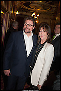 MICHAEL BALL; CATHY MCGOWAN, Once Gala night raising funds for Oxfam's Mother Appeal. Phoenix Theatre. Charing Cross Rd. . London. 17 March 2014.