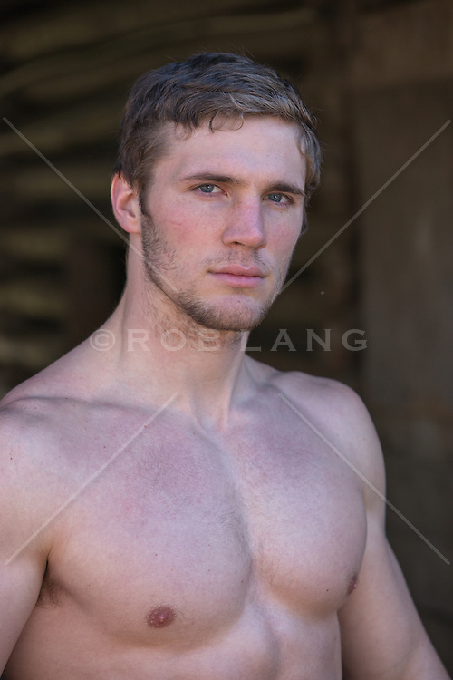 portrait of an athletic man without a shirt