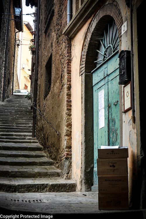 Beautiful medieval architecture in Cortona, Italy