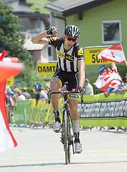 09.07.2015, Drobollach, AUT, Österreich Radrundfahrt, 5. Etappe, Drobollach nach Matrei in Osttirol, im Bild Johann van Zyl (RSA, 1. Platz Etappe) // 1st place stage Johann van Zyl of Souzh Africa during the Tour of Austria, 5th Stage, from Drobollach to Matrei in Osttirol, Drobollach, Austria on 2015/07/09. EXPA Pictures © 2015, PhotoCredit: EXPA/ Reinhard Eisenbauer