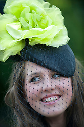 © licensed to London News Pictures. 14/06/2011. Ascot, UK.  Veronica Veronina arriving on day one at Royal Ascot races today (14/03/2011). The 5 day showcase event,  one of the highlights of the racing calendar is in it's 300th year. Horse racing has been held at the famous Berkshire course since 1711 and tradition is a hallmark of the meeting. Top hats and tails remain compulsory in parts of the course. Photo credit should read: Ben Cawthra/LNP