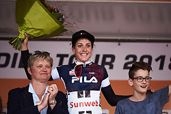 Lucinda Brand (NED) earns the sprinter's jersey at Boels Ladies Tour 2018 - Stage 3, a 129km road race in Gennep, Netherlands on August 30, 2018. Photo by Sean Robinson/velofocus.com