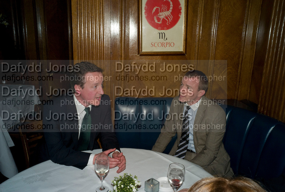 DAVID CAMERON; GUY RITCHIE, Book launch for Citizen by Charlie Brooks. Tramp. London. 1 April  2009