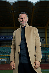 BARRY, WALES - Thursday, October 3, 2019: Wales manager Ryan Giggs poses for a portrait at Barry Town's Jenner Park after a press conference to announce his squad for the forthcoming UEFA Euro 2020 Qualifying Group E qualifying matches against Slovakia and Croatia. (Pic by David Rawcliffe/Propaganda)
