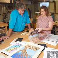 2017 UWL Printmaking Alumni Sarah Higley Tim Znidarsich Joel Elgin