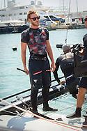 Palma de Mallorca, 04-08-2016 <br /> <br /> Pierre Casiraghi on board of Malizia catamaran during the 35th Copa del Rey Mapfre Sailing Cup day 4 in Palma de Mallorca, Spain. <br /> <br /> Photo COPYRIGHT:Royalportraits Europe/Bernard Ruebsamen