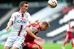 Milton Keynes Dons' Shaun Williams fouls Bristol City's Scott Wagstaff  - Photo mandatory by-line: Dougie Allward/JMP - Tel: Mobile: 07966 386802 24/08/2013 - SPORT - FOOTBALL - Stadium MK - Milton Keynes -  Milton Keynes Dons V Bristol City - Sky Bet League One