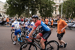 Kirsten Wild (NED) of WNT Rotor Pro Cycling smiles before she gets DQd after the Prudential RideLondon Classique, a 68 km road race starting and finishing in London, United Kingdom on August 3, 2019. Photo by Balint Hamvas/velofocus.com