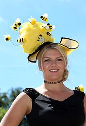 Chloe Brake poses for photgraphs on day three of Royal Ascot at Ascot Racecourse.