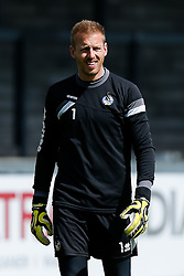 Steve Mildenhall of Bristol Rovers takes part in training before Sundays Vanamara Conference Play Off Final match against Grimsby Town at Wembley Stadium for promotion to the Football League 2 - Photo mandatory by-line: Rogan Thomson/JMP - 07966 386802 - 12/05/2015 - SPORT - FOOTBALL - Bristol, England - Memorial Stadium - Bristol Rovers Play Off Final Previews - Vanarama Conference Premier.