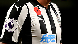 Newcastle United wear poppies on their shirts - Mandatory by-line: Robbie Stephenson/JMP - 30/10/2017 - FOOTBALL - Turf Moor - Burnley, England - Burnley v Newcastle United - Premier League
