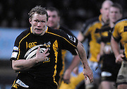 Wycombe, GREAT BRITAIN, Wasps, Josh LEWSEY, running with the ball at the start his try scoring run, during the Guinness Premiership Game, London Wasps vs Leeds Carnegie, at Adams Park. 05/01/2008  [Mandatory credit Peter Spurrier/ Intersport Images].