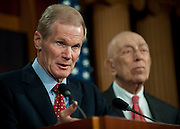 May 13,2010 - Washington, District of Columbia USA -  Senator Bill Nelson (D-FLA) addresses a press conference on Thursday concerning legislation to raise the cap on oil company liability for spill damages from $75 million to $10 billion. The legislation, sponsored by Sen. Robert Menendez (D-N.J.) and backed by Senators Frank Lautenberg (D-N.J.) and Bill Nelson (D-Fla.), was stalled when they failed to pass it by unanimous consent. Senator Lisa Murkowski (R-Alasks) objected, therefore ending the effort.(Credit Image: © Pete Marovich/ZUMA Press)