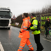 It is Green Monday and first week of the second anniversary of Cuadrilla's fracking exploration in Preston New Road. For two years activists have been keeping an eye on the fracking company Cuadrilla from the roadside of the fracking site in Preston New Road. The company has not actively fracked since November and is currently seemingly busy emptiyng the site for heavy equipment. Prostesters and climate protectors are still by the gates trying to work out Cuadrilla's intensions.