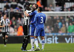 PAPISS CISSE, JOHN TERRY & ASHLEY COLE.NEWCASTLE V CHELSEA.NEWCASTLE V CHELSEA.ST JAMES PARK, NEWCASTLE, ENGLAND.02 February 2013.GAQ65267..  .WARNING! This Photograph May Only Be Used For Newspaper And/Or Magazine Editorial Purposes..May Not Be Used For Publications Involving 1 player, 1 Club Or 1 Competition .Without Written Authorisation From Football DataCo Ltd..For Any Queries, Please Contact Football DataCo Ltd on +44 (0) 207 864 9121