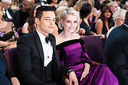 Rami Malek (L) and Lucy Boynton (R) during the live ABC Telecast of The 91st Oscars® at the Dolby® Theatre in Hollywood, CA on Sunday, February 24, 2019.