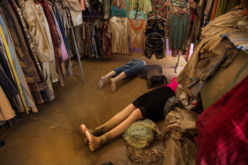 A flooded clothing store in the center of Samac, Bosnia and Herzegovina.<br /> <br /> Photo by Matt Lutton / Boreal Collective<br /> <br /> Flooding in Bosnia and Herzegovina.