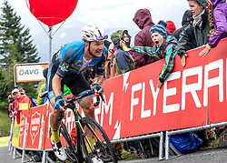 12.07.2019, Kitzbühel, AUT, Ö-Tour, Österreich Radrundfahrt, 6. Etappe, von Kitzbühel nach Kitzbüheler Horn (116,7 km), im Bild Matthias Krizek (AUT, Team Felbermayr Simplon Wels) // Matthias Krizek of Austria (Team Felbermayr Simplon Wels) during 6th stage from Kitzbühel to Kitzbüheler Horn (116,7 km) of the 2019 Tour of Austria. Kitzbühel, Austria on 2019/07/12. EXPA Pictures © 2019, PhotoCredit: EXPA/ Reinhard Eisenbauer