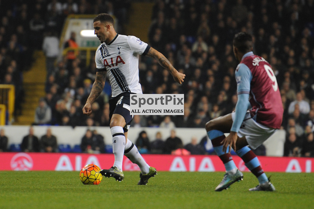 Tottenhams Kyle Walker in action during the Tottenham v Aston Villa match in the Barclays Premier League on the 2nd November 2015