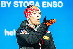 22.02.2019, Medal Plaza, Seefeld, AUT, FIS Weltmeisterschaften Ski Nordisch, Seefeld 2019, Nordischen Kombination, Siegerehrung, im Bild Bronzemedaillengewinner Franz Josef Rehrl (AUT) // Bronze medalist Franz Josef Rehrl of Austria during the winner Ceremony for the nordic combined of FIS Nordic Ski World Championships 2019 at the Medal Plaza in Seefeld, Austria on 2019/02/22. EXPA Pictures © 2019, PhotoCredit: EXPA/ Dominik Angerer