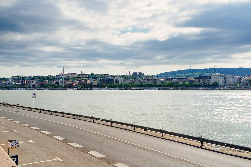 Looking across the Danube river towards Buda