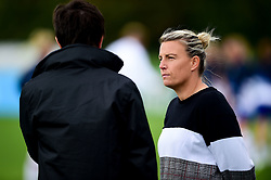 Tanya Oxtoby manager of Bristol City Women is interviewed by Dan White prior to kick off - Mandatory by-line: Ryan Hiscott/JMP - 29/09/2019 - FOOTBALL - SGS College Stoke Gifford Stadium - Bristol, England - Bristol City Women v Chelsea Women - FA Women's Super League