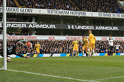 12 March 2017 - The FA Cup - (Sixth Round) - Tottenham Hotspur v Millwall - Christian Eriksen of Tottenham Hotspur scores the opening goal - Photo: Marc Atkins / Offside.