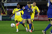 Jake Reeves midfielder for AFC Wimbledon (8) weaves his way through during Sky Bet League 2 Play-Off first leg match between AFC Wimbledon and Accrington Stanley at the Cherry Red Records Stadium, Kingston, England on 14 May 2016. Photo by Stuart Butcher.