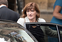 © Licensed to London News Pictures. 09/09/2019. London, UK. Culture Minister Nicky Morgan leaves Parliament. The government have announced that<br /> Parliament will be prorogued at the end of business today. Photo credit: Peter Macdiarmid/LNP