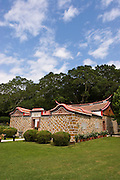 Weilu Traditional house on Kinmen, Republic of China ROC (Taiwan). ..Kinmen (Jinmen) formely known as Quemoy. The island lies less than 2km off the coast of China, and in 1949 was turned into a front-line of defense for Taiwan by Chiang Kai-shek and the Chinese nationalist Kuomintang (KMT) in the ongoing war with the communist PRC. The island existed under martial law until 1993. Today, Kinmen is a popular tourist destination and home to a lot of traditional Fujian-style architecture.