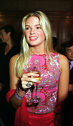 MISS ISABELLA ANSTRUTHER-GOUGH-CALTHORPE a friend of HRH Prince William, at a party show in London on 30th September 1999.MXA 28