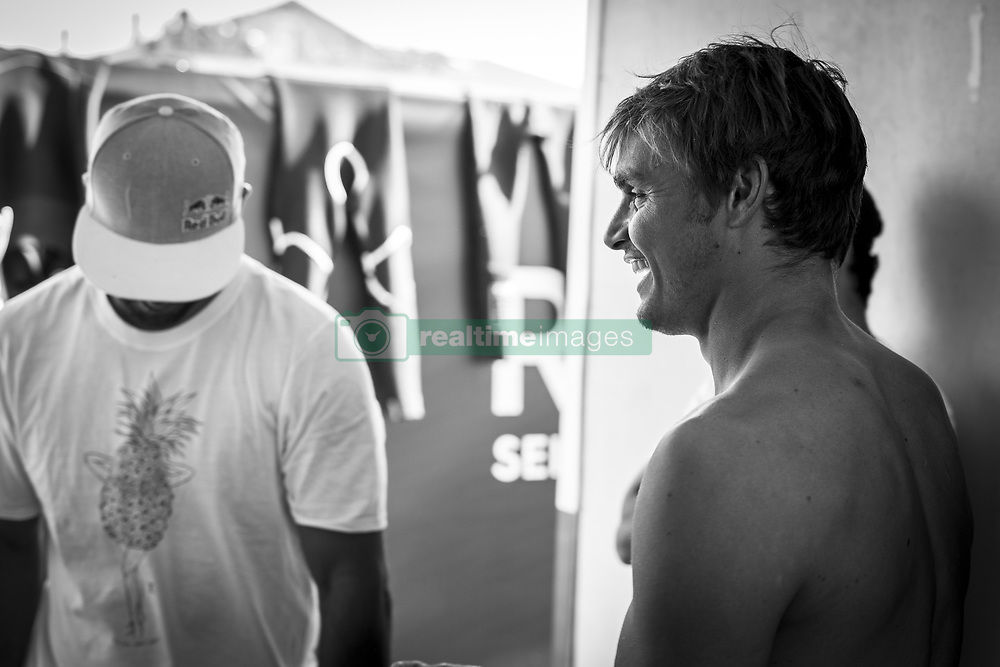 October 12, 2017 - Marc Lacomare (FRA) before his heat of Round Two at Quiksilver Pro France 2017, Hossegor, France..Quiksilver Pro France 2017, Landes, France - 12 Oct 2017 (Credit Image: © WSL via ZUMA Press)