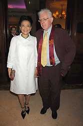 JON HALLIDAY and writer JUNG CHANG at a party to celebrate the 180th Anniversary of The Spectator magazine, held at the Hyatt Regency London - The Churchill, 30 Portman Square, London on 7th May 2008.<br /><br />NON EXCLUSIVE - WORLD RIGHTS
